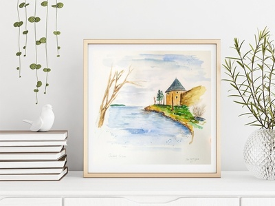 Oreshek Fortress, Russia traveling russia travel travelsketch watercolour watercolor sketch painting illustration