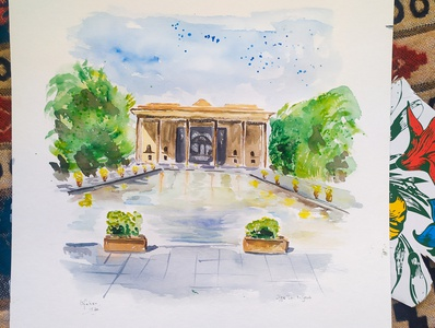 Iran, Watercolor Sketch iran travelsketch painting watercolor sketch illustration