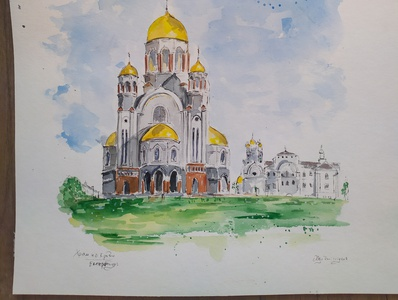 Russia, Travel Sketch russia travelsketch watercolour painting watercolor sketch illustration