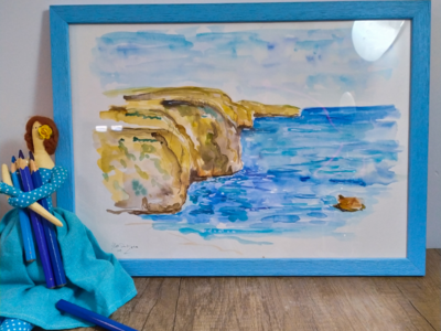 Malta malta watercolour sketch travel