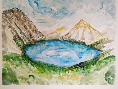 Almaty, Kazakhstan illustration watercolor travelsketch watercolour kazakhstan almaty