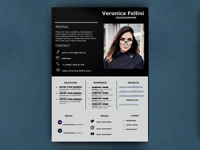 Videogracher Resume - free Google Docs Template google docs free templates free template design