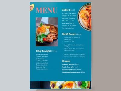 Restaurant Menu - free Google Docs Template restaurant menu google docs free template design