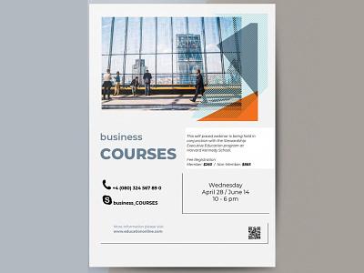 Business Courses Flyer - free Google Docs Template business flyer google docs free templates free template design