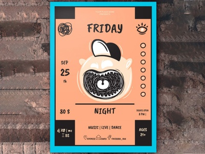 Friday Night Party Poster - free Google Docs Template party poster google docs free templates free template design