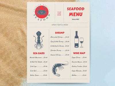 Seafood Menu - free Google Docs Template google docs free templates free template design