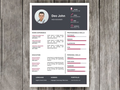 Web Designer Resume - free Google Docs Template. resume google docs free templates free template design