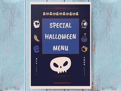 Special Halloween Menu - free Google Docs Template google docs free templates free template