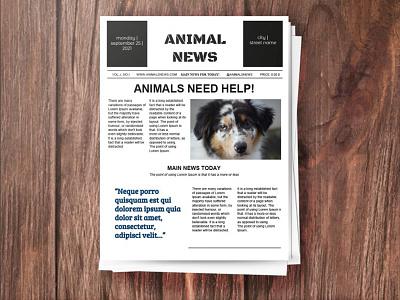 Animal Newspaper - free Google Docs Template google docs free templates free template design