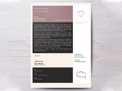 Company Letterhead - free Google Docs Template google docs design free template letterhead