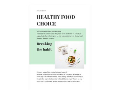 Healthy Food Article - free Google Docs Template healthy food article google docs free templates design free template