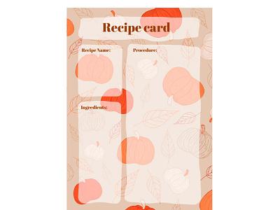 Pumpkin Recipe Card - free Google Docs Template pumpkin recipe card google docs free templates design free template