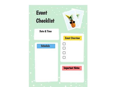 Event Checklist - free Google Docs Template event checklist google docs design free templates free template