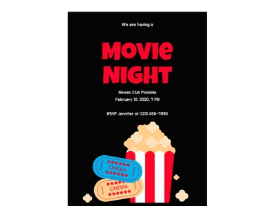 Movie Night Invitation - free Google Docs Template invitation google docs free templates design free template
