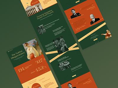 Chronology - Landing Page ukraine gowerment political news history minimalism webdesign landingpage