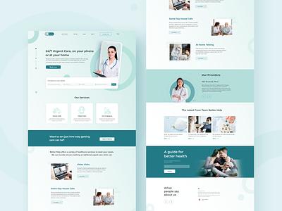 Better Help webdesign stayhome pandemic doctor blue landing page online medicine web medicine medical