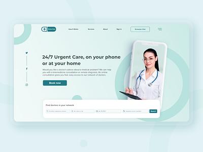 Better Help-first screen medicine care stayhome doctor website web medical firstscreen