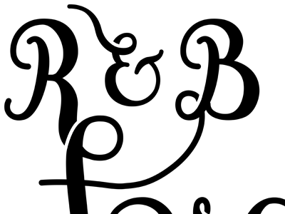 R&B Forever lettering project wedding