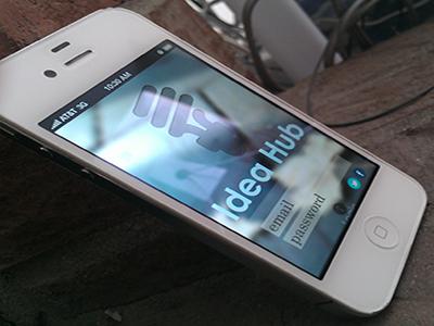 Idea Hub mobile ui login