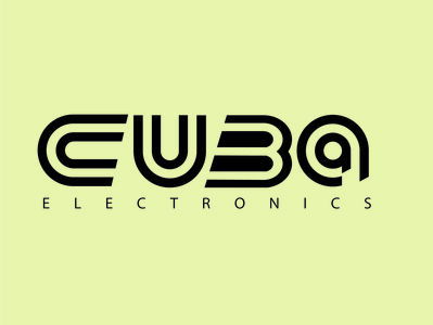 cuba electrics electronic branding logo illustration