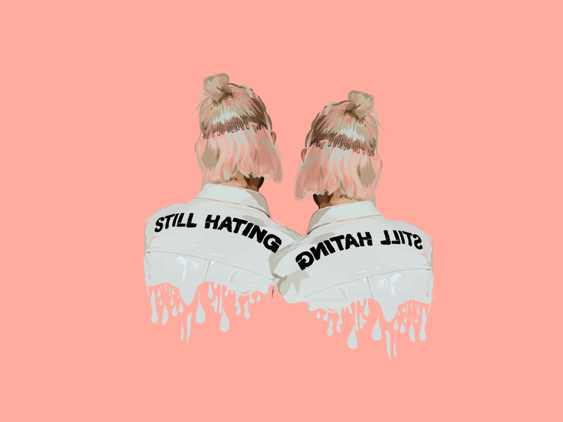 Still Hating Jacket Illustration pink realistic design illustration fashion illustration fashion