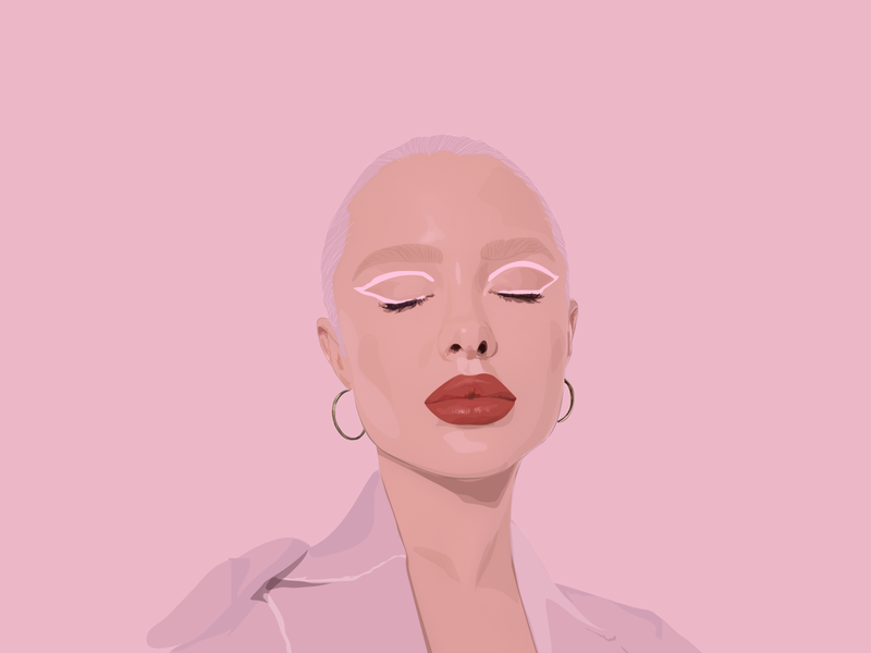 Lip Gloss realistic pink fashion illustration illustrator makeup fashion illustration