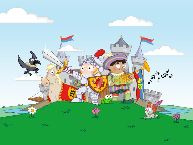 Castles and Knights bbc education animation pitch adobe illustrator character design illustration