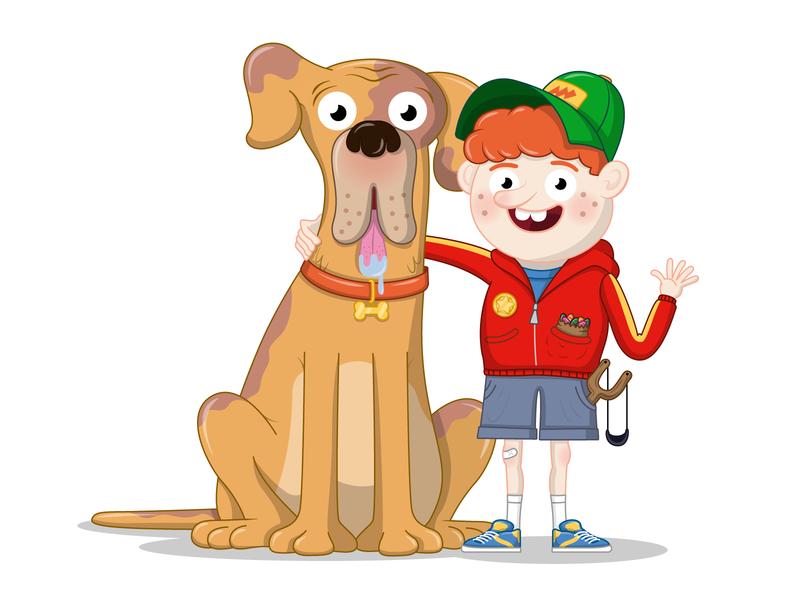 Best Mates digital art vector best friends design illustration character design adobe illustrator