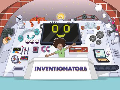 Inventionators vector pitch education design adobe illustrator digital art character design illustration illustrator