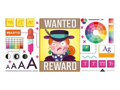 Wanted Poster book illustration vector digital art design character design adobe illustrator illustration