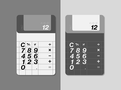 Daily UI #004 (Calculator) design calculator grey black and white minimalistic minimal checkout buying app aesthetic daily ui challenge