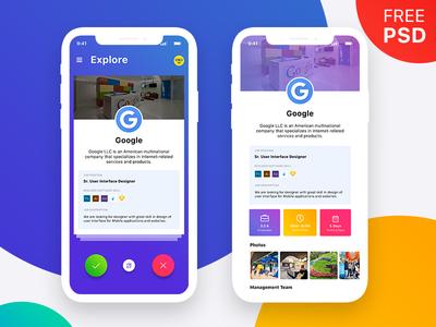 Job App Freebie UI