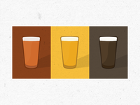 beer glass graphics for a brewery client