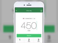 x Bank iOS  Exchange Screen