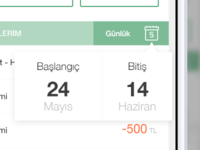 x Bank iOS Calendar Dropdown