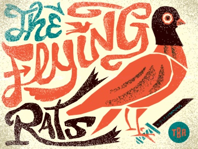 The Flying Rats illustration the big animals flying rats pigeons