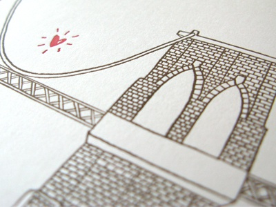 The space between letterpress edition enormouschampion bridges illustration