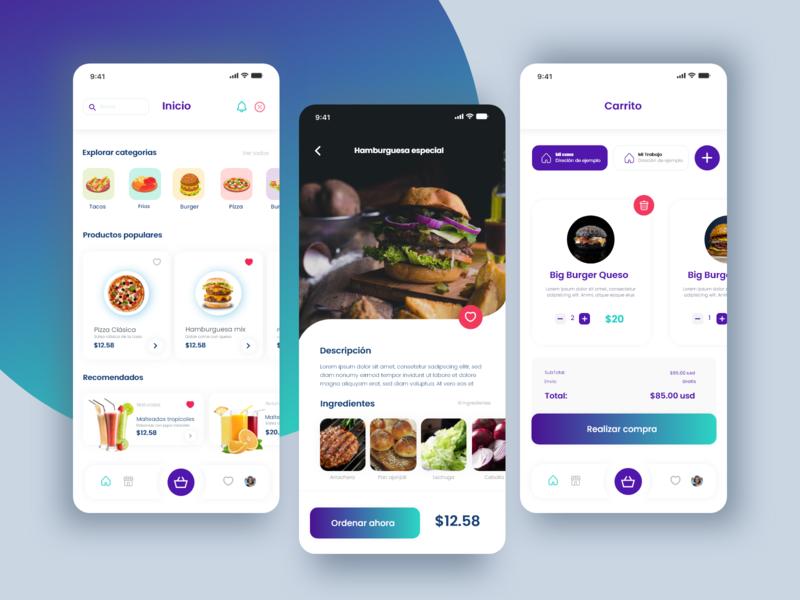 Delivery app burgers design app design uxdesign uidesign concept design food app delivery app