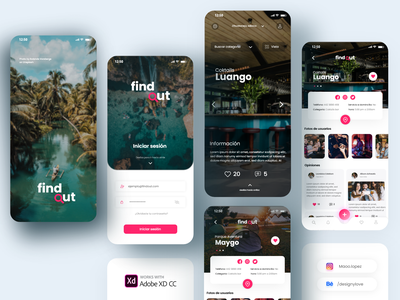 Travel Places UI travel agency traveling find app place homepage login design travel ui travel app concept design ui design ui design app uxdesign adobexd uidesign