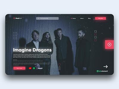 MUSIC CONCEPT WEB web website design vue react webservices musicweb musicapp landingpage webdesign ui design app adobexd concept design uxdesign