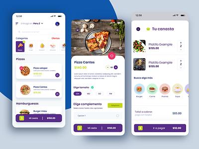 Delivery App concept 2 uiux cart cesta pizza delivery delivery service delivery app appdesign ui design app concept design uidesign adobexd uxdesign
