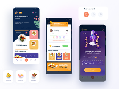 RESTAURANT REWARD food app food restaurant menu delivery design app design ui figma concept concept design uidesign adobexd uxdesign
