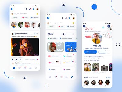 Facebook Redesign Concept application app design redesign concept ux socialmedia social app redesign facebook design ui design app concept design uidesign adobexd uxdesign