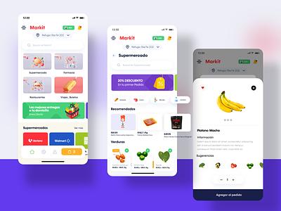 Grocery Design  Concept - Market market farmacy vegetable fruits design app adobexd design concept design uidesign uxdesign mercado marketplace grocery app branding graphic design animation