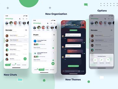 Whatsapp Redesign Concept themes chat concept messenge mensaje facebook concept design app concept design uidesign adobexd uxdesign