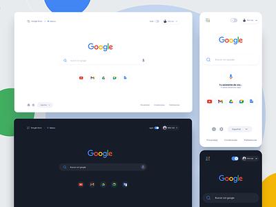 Google Redesign inspiration buscador landing website concept design app concept design uidesign adobexd uxdesign