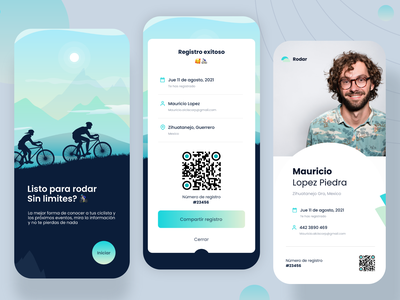 CYCLING APP iphone ios android apps inspiration creative ux design mobile app cycling design concept concept design uidesign adobexd uxdesign branding logo graphic design ui