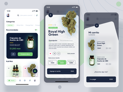 Cannabis shop store delivery weed inspiration dribbble ecommerce shop design app concept design uidesign adobexd uxdesign cbd cannabis