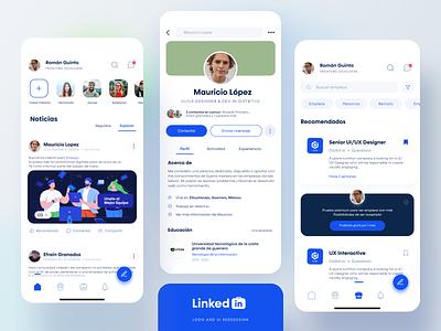 Linkedin App Concept design ui findjobs jobs job linkedin design app concept design uidesign adobexd uxdesign