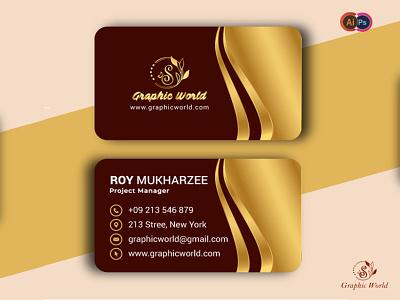 Business card social media vector logo flat business business card design businesscard minimal illustration graphic design design branding
